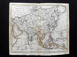 Guthrie 1788 Antique Hand Col Map. Asia from the best Authorities